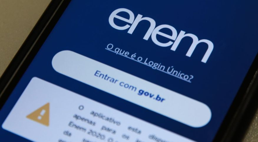 Site do Exame Nacional do Ensino Médio (Enem)