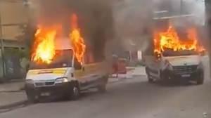 Confronto entre milicianos tem dois mortos e sete vans queimadas