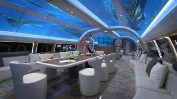 Projeto da Lufthansa Technik apresenta um sistema de projeção que permite cobrir as paredes internas da cabine com praticamente qualquer tipo de ambientação