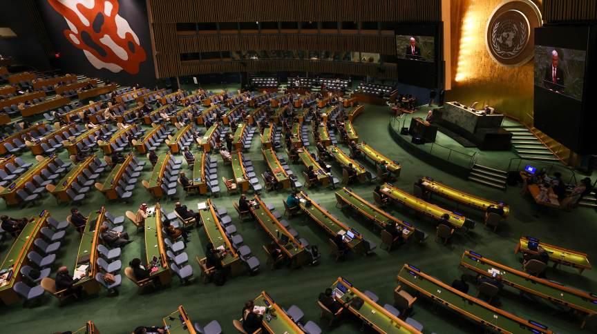 Plenário da Assembleia-Geral da ONU, em Nova York
