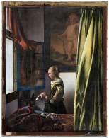 """Museu na Alemanha lançou o quadro """"Garota lendo uma carta em uma janela aberta"""" drasticamente alterado; artista holandês pintou a obra entre 1657 e 1659"""