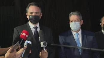 Presidente da Câmara dos Deputados, Arthur Lira, e do Senado, Rodrigo Pacheco, se reuniram na tarde desta segunda-feira para discutir uma solução para a dívida dos precatórios