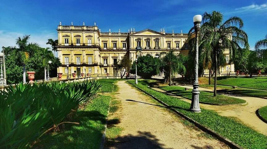 Palácio de São Cristóvão, sede do Museu Nacional, na Quinta da Boa vista, no Rio de Janeiro