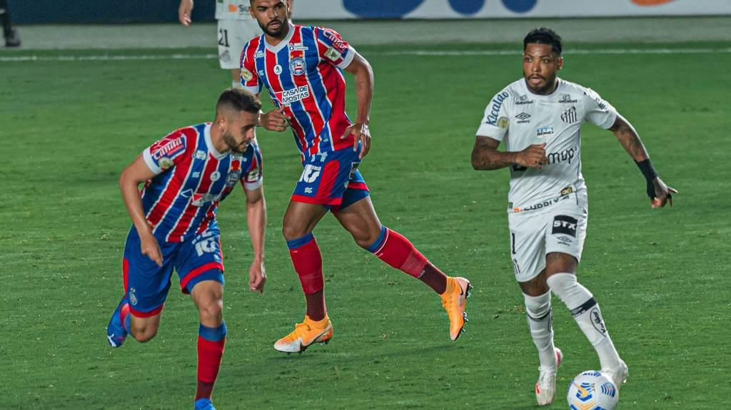 Santos e Bahia empataram em 0 a 0 na Vila Belmiro