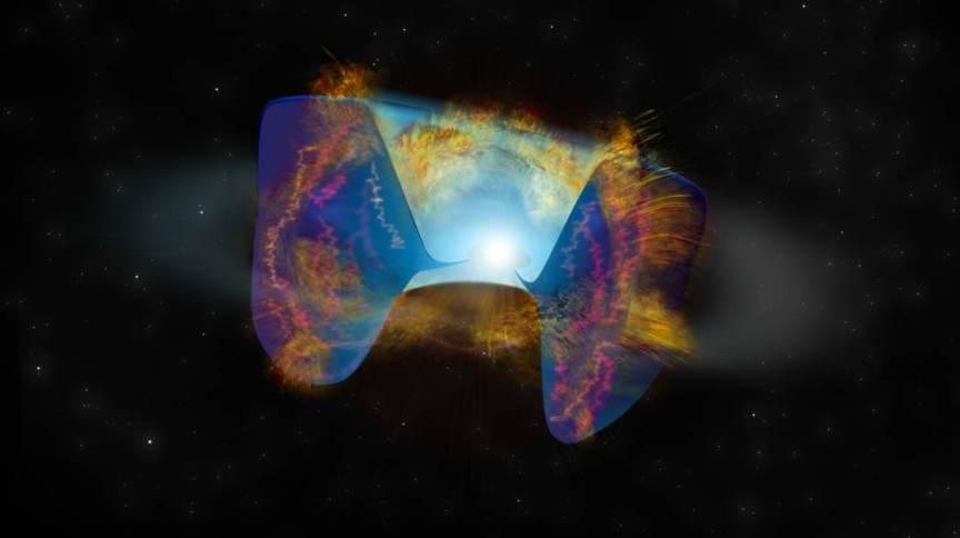 Choque entre estrelas que desencadeou uma supernova
