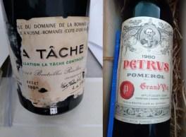 O valor estimado das duas garrafas de vinho ultrapassa os R$ 57 mil