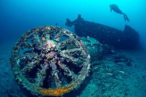 Museu subaquático tem 14 barcos naufragados sob o Estreito de Dardanelos
