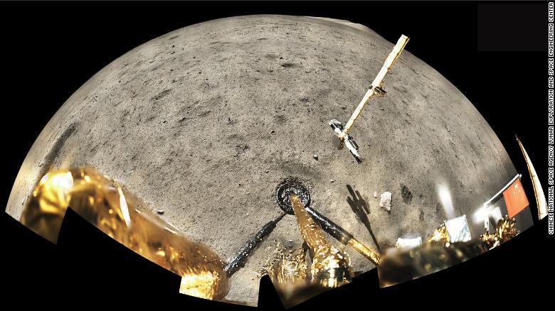 Imagem da Chang'e-5 mostra a superfície lunar
