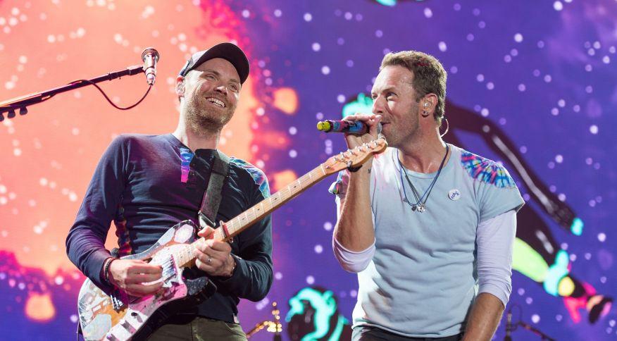 Integrantes da banda Coldplay, que irá se apresentar no Rock in Rio 2022