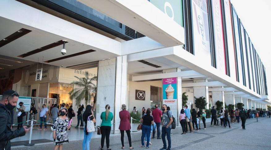 Reabertura de shoppings no Distrato Federal em 2021