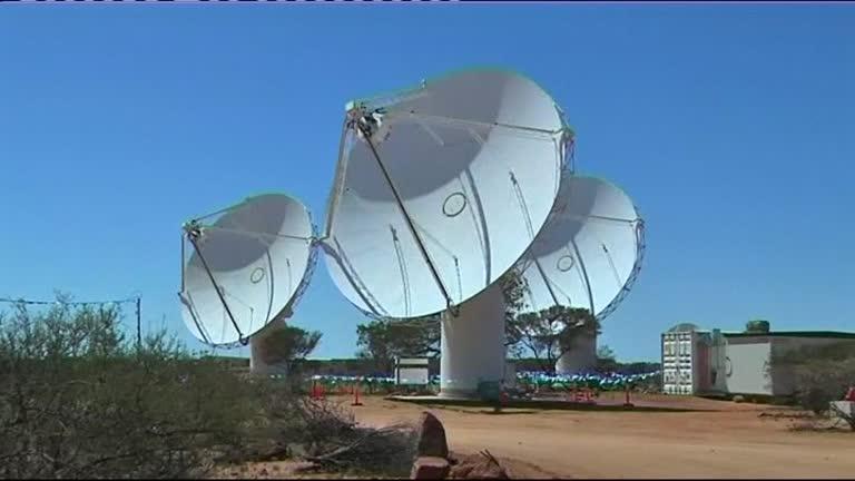 Radiotelescópio ASKAP, na Austrália