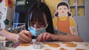 Confeitaria chinesa recria prova da série Round 6 para clientes