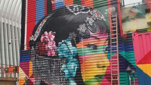 Brasileiro Kobra homenageia mulheres em novo mural nos EUA