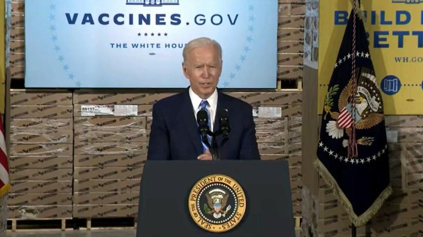 Presidente americano Joe Biden em discurso em Chicago nesta quinta (7)