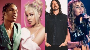 A$AP Rocky, Doja Cat, Dave Grohl e Miley Cyrus