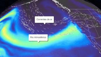 Com tempestades sucessivas, potencial de umidade pode chegar ao pico de um raro evento de categoria 5 no domingo (24), resultando em enchentes e fluxos de detritos