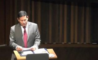 Vice-presidente discursou no pavilhão da sustentabilidade e pediu ajuda do setor privado e governos estrangeiros para preservação da floresta