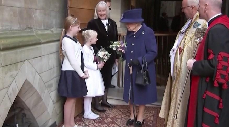 Rainha Elizabeth II em evento na Abadia de Westminster