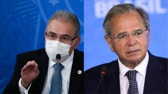 Seria a terceira vez de Marcelo Queiroga na CPI e a primeira ida de Paulo Guedes à Comissão