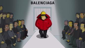 Personagens icônicos de Springfield foram as estrelas da nova coleção da grife Balenciaga