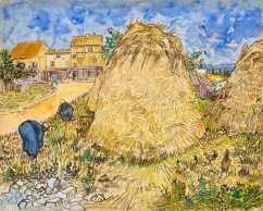 """Intitulado """"Meules de blé"""", de 1888, quadro foi saqueado de colecionadora francesa durante a eclosão da Segunda Guerra Mundial"""