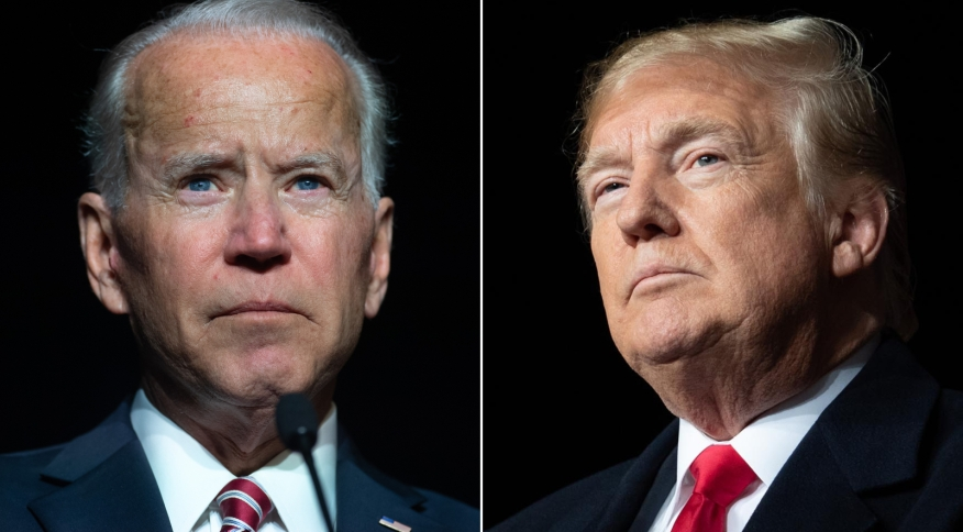 Presidente dos Estados Unidos, Joe Biden, e os ex-presidente Donald Trump