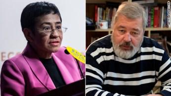 Ressa e Muratov foram laureados 'por seus esforços para salvaguardar a liberdade de expressão'; Nobel de Economia será revelado na segunda-feira (11)