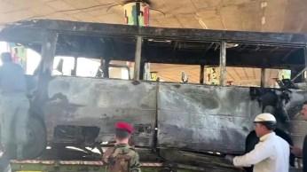 Dois dispositivos explosivos dispararam enquanto o ônibus estava na ponte Hafez al-Assad