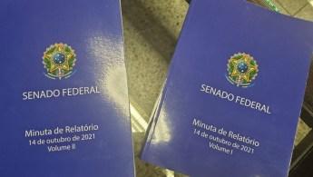 CNN Brasil registrou dois volumes encadernados para serem apresentados na Comissão Parlamentar de Inquérito