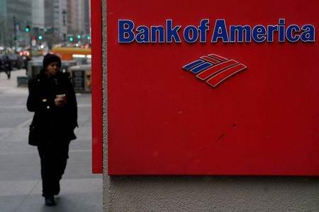 Logo do Bank of America fotografado em Nova York, EUA