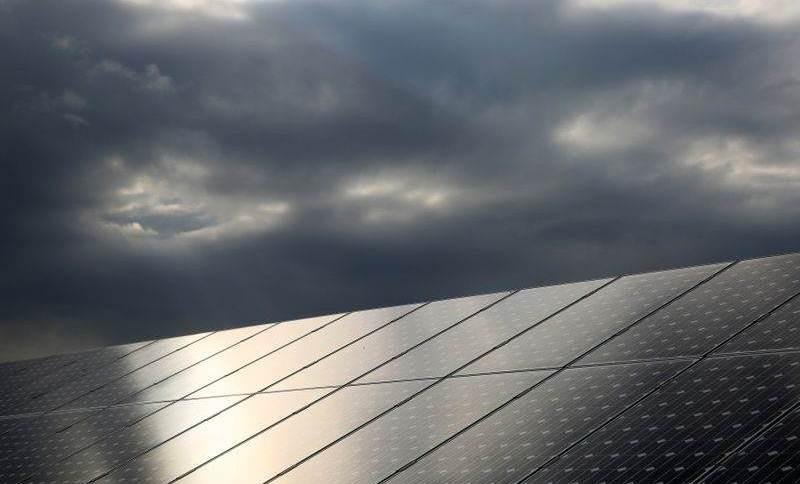 Paineis de energia fotovoltaica.