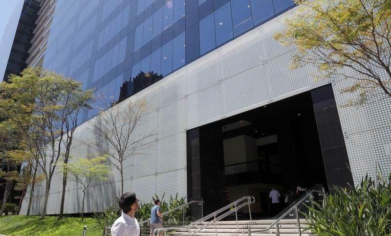 Fachada do edifício sede do BTG Pactual, em São Paulo.