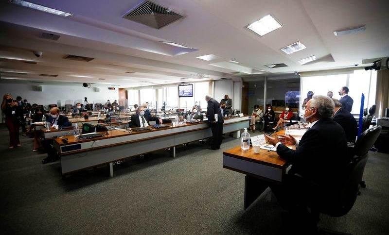 Plenário da CPI da Covid no Senado