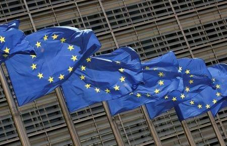 Bandeiras da União Europeia em Bruxelas, Bélgica