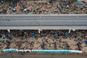 Haitianos consideram trabalhar no México após acampamento ser esvaziado